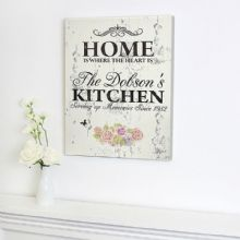 Personalised Floral Shabby Chic Canvas P0510B13